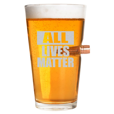.50 Cal Bullet Pint Glass  - All Lives Matter