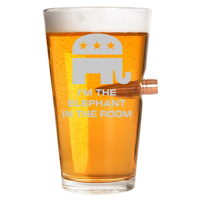 .50 Cal Bullet Pint Glass - Elephant in the Room – Stack