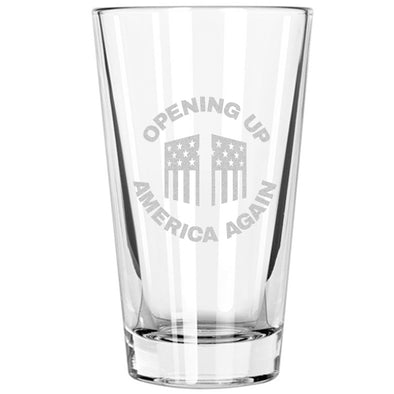 Pint Glass - Opening Up America Again Circle