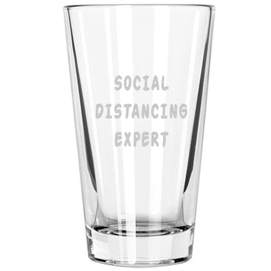 Pint Glass - Social Distancing Expert