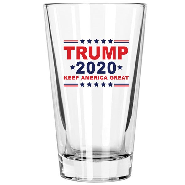 Pint Glass - Trump 2020 Keep America Great in Color