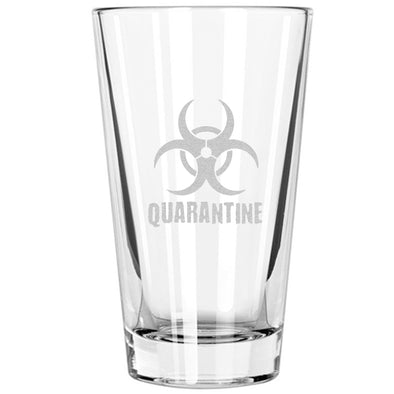 Pint Glass - Biohazard Quarantine