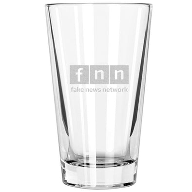 Pint Glass - FNN - Fake News Network lowercase