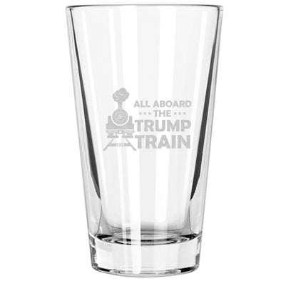 Pint Glass - All Aboard The Trump Train