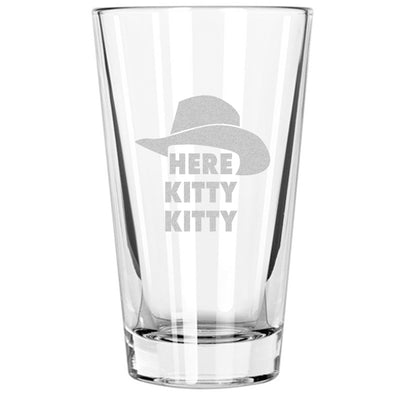 Pint Glass - Here Kitty Kitty