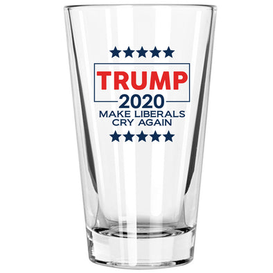 Pint Glass - Trump 2020 Make Liberals Cry Again in Color