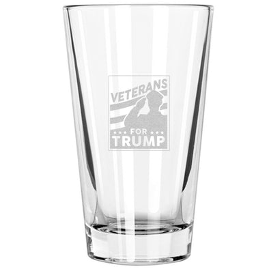 Pint Glass - Veterans For Trump
