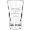 Pint Glass - President Trump 45th President Signature
