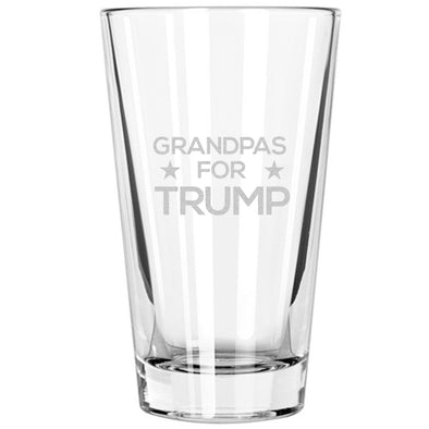 Pint Glass - Grandpas for Trump