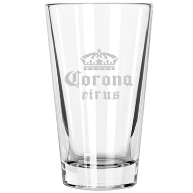 Pint Glass - Crown Coronavirus
