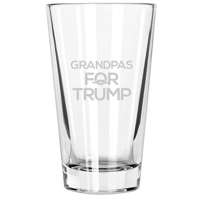 Pint Glass - Grandpas for Trump - Mustache