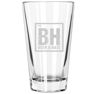 Pint Glass - Beer & Hate