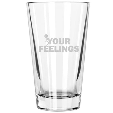 Pint Glass - Stick Figure - Fuck Your Feelings Long