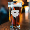 Pint Glass - Heart Trump