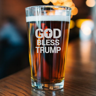 Pint Glass - God Bless Trump