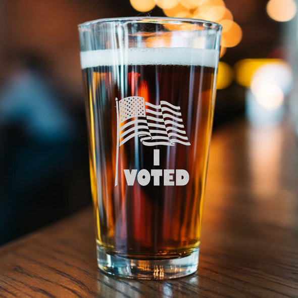 Pint Glass - I Voted