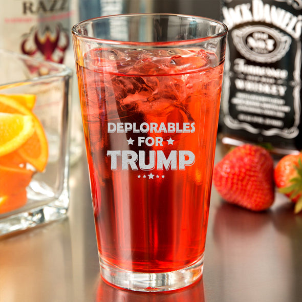 Pint Glass - Deplorables For Trump