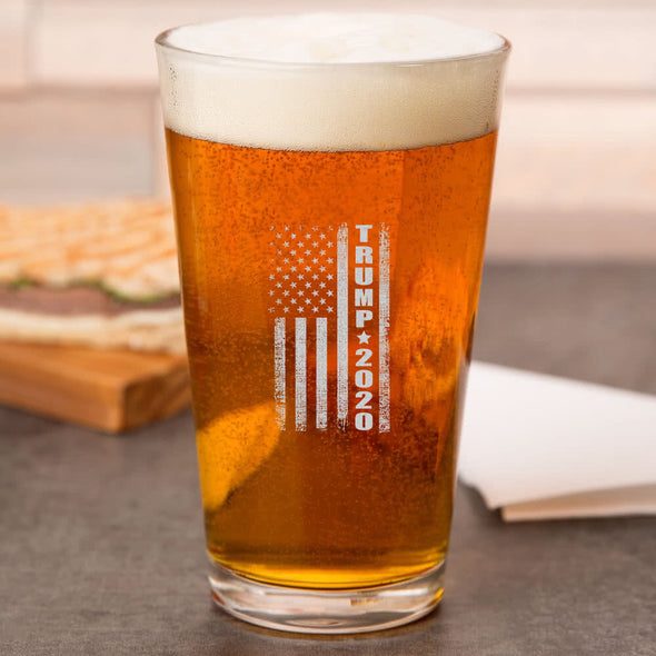 Pint Glass - Trump 2020 Flag
