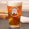 Pint Glass - Elephant in the Room – Round
