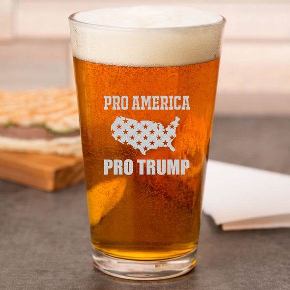 Pint Glass - Pro America, Pro Trump