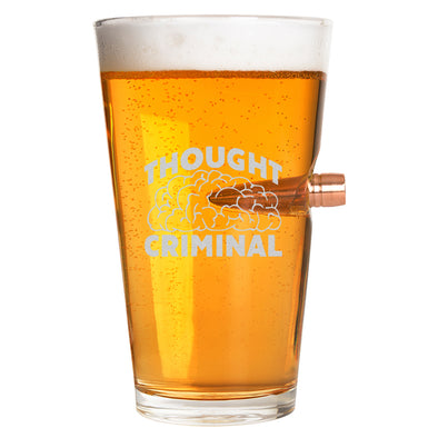 .50 Cal Bullet Pint Glass - Thought Criminal