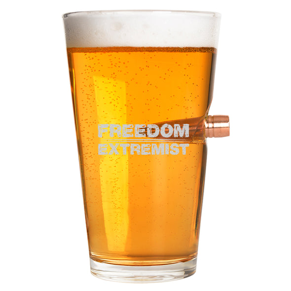 .50 Cal Bullet Pint Glass - Freedom Extremist