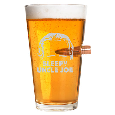 .50 Cal Bullet Pint Glass - Sleepy Uncle Joe