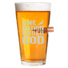 .50 Cal Bullet Pint Glass - One Nation Under God