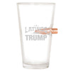 .50 Cal Bullet Pint Glass - Latinos for Trump