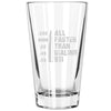 Pint Glass - All Faster than Dialing 911