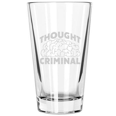 Pint Glass - Thought Criminal