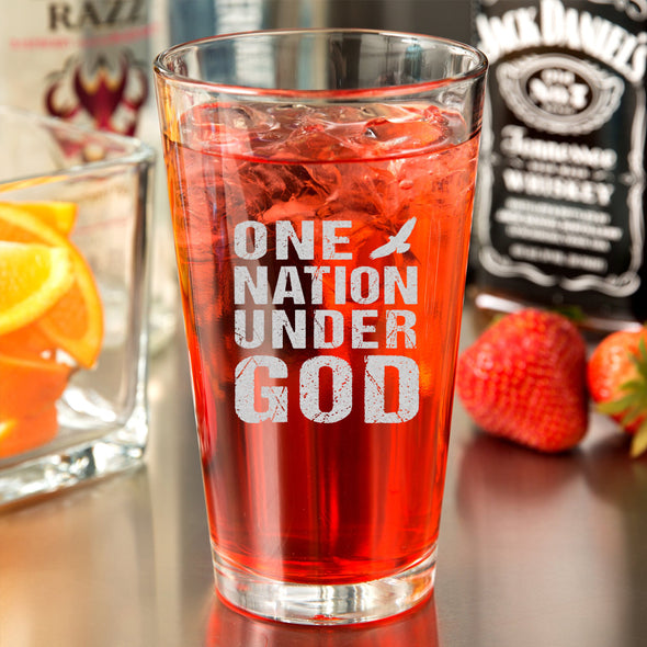 Pint Glass - One Nation Under God
