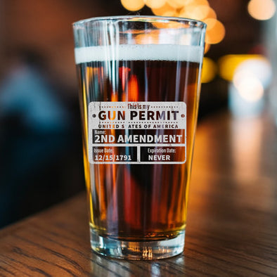 Pint Glass - This is my Gun Permit