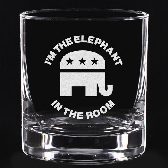 Whiskey Glass - Elephant in the Room – Round