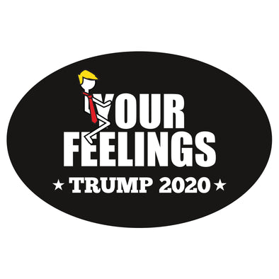 Stick Figure Trump - Eff Your Feelings Car Magnet Set Part