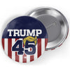 Trump 45 Hair Button