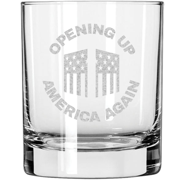 Whiskey Glass - Opening Up America Again Circle