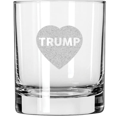 Whiskey Glass - Heart Trump