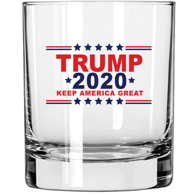 Whiskey Glass - Trump 2020 Keep America Great in Color