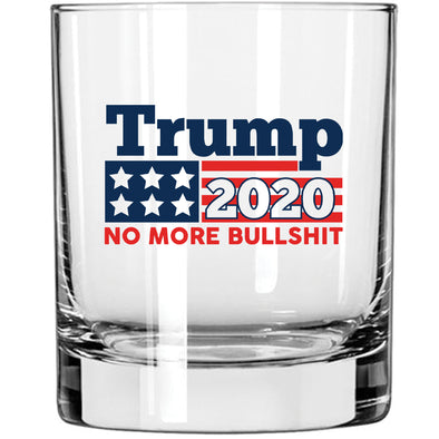 Whiskey Glass - Trump 2020 No More Bullshit in Color