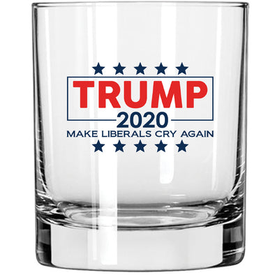 Whiskey Glass - Trump 2020 Make Liberals Cry Again in Color