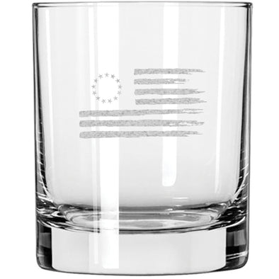 Whiskey Glass - Betsy Ross Flag