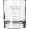 Whiskey Glass - Hell Yeah! I Voted Trump And Will Do It Again 2020