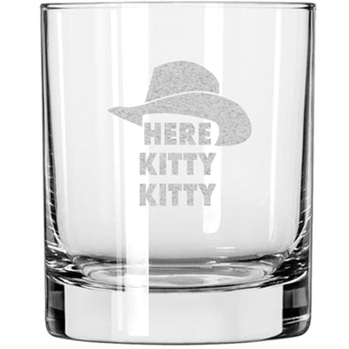 Whiskey Glass - Here Kitty Kitty