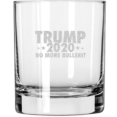 Whiskey Glass - Trump 2020 No More Bullshit