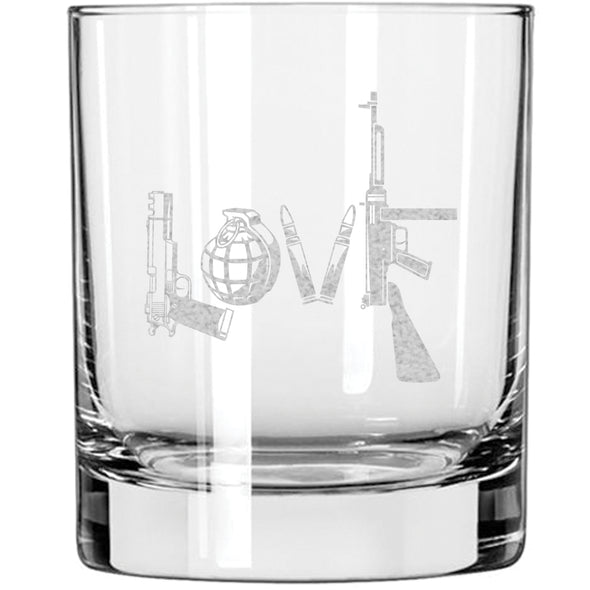 Whiskey Glass - Love - Written in Guns and Weapons