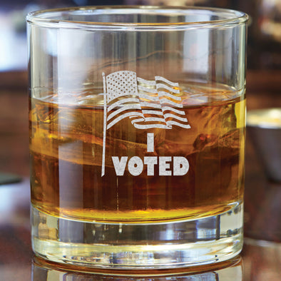 Whiskey Glass - I Voted