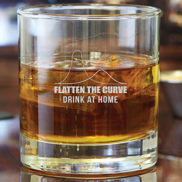 Whiskey Glass - Flatten the Curve Drink at Home