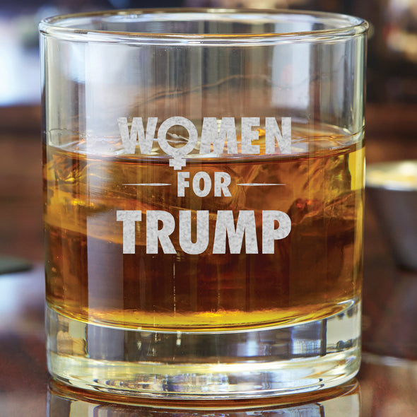 Whiskey Glass - Women For Trump