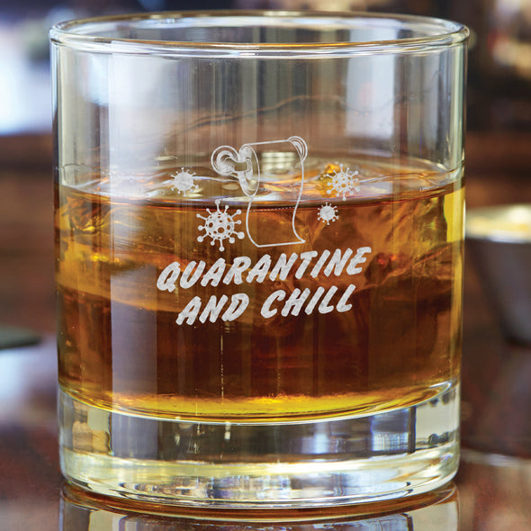 Whiskey Glass - Quarantine and Chill Toilet Paper